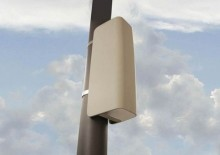 A small cell installation on a pole